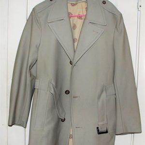 Vintage Sears Beige Men's Trench Coat